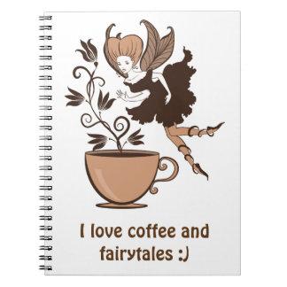 Coffee fairy spiral notebooks