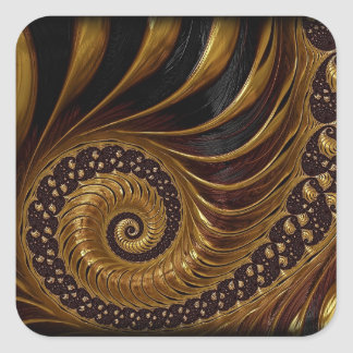 coffee feathers fractal stickers