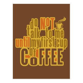 COFFEE FIRST custom postcard