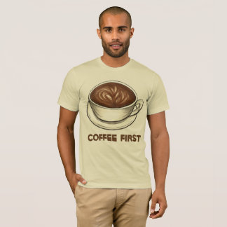 COFFEE FIRST Seattle Latte Coffee Cup Tee Shirt