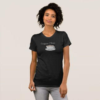 Coffee First T-shirt -- Styling In Black T