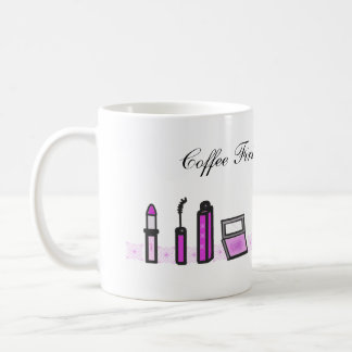 Coffee First Then Lipstick Purple Coffee Mug