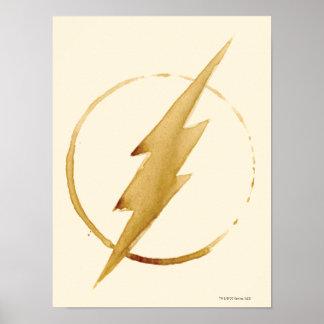 Coffee Flash Symbol Poster