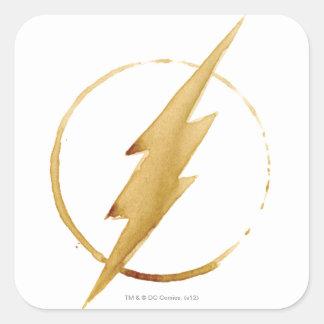 Coffee Flash Symbol Square Sticker