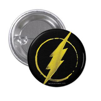 Coffee Flash Symbol - Yellow 3 Cm Round Badge