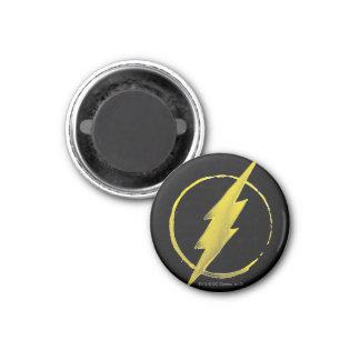 Coffee Flash Symbol - Yellow 3 Cm Round Magnet