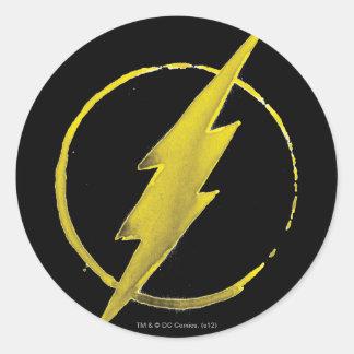 Coffee Flash Symbol - Yellow Round Sticker