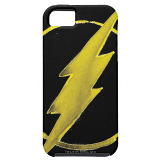 Coffee Flash Symbol - Yellow Tough iPhone 5 Case