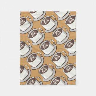 Coffee Flourish Fleece Blanket