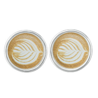 Coffee Froth Leaf Cufflinks