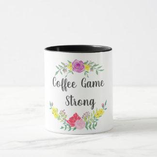 Coffee Game Strong Flower Mug