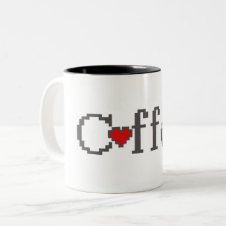 Coffee Gamer Heart Two-Tone Coffee Mug