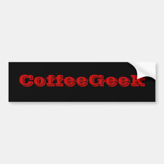 Coffee Geek Bumper Sticker