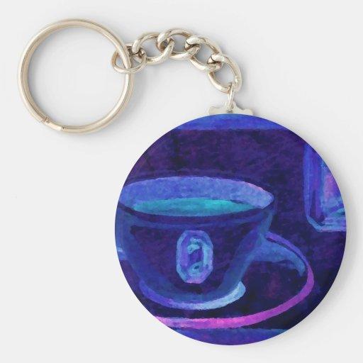 Coffee Gems Blue CricketDiane Coffee Art Key Chains