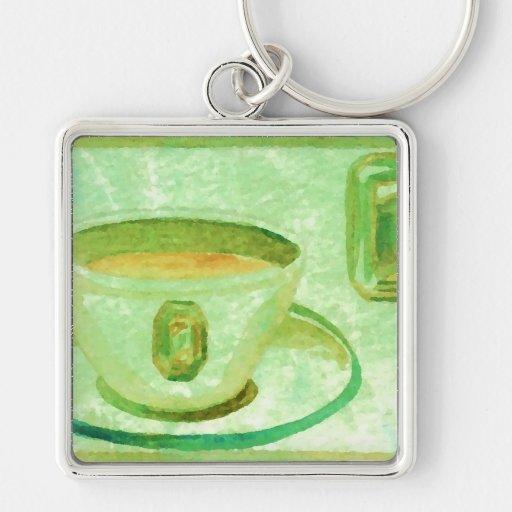 Coffee Gems - Emerald CricketDiane Coffee Art Keychains
