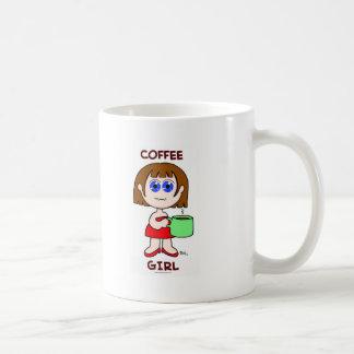 COFFEE GIRL - BROWN HAIR COFFEE MUG