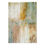 'Coffee' Green Abstract Art Poster