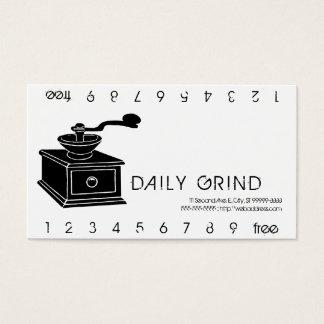 Coffee Grinder Grind Punchard Business Card