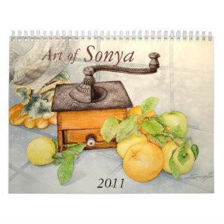 COFFEE GRINDER jpec, Art of, Sonya, 2011 Calendar