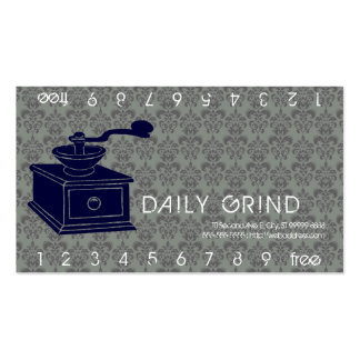 Coffee Grinder Loyalty Punch Business Cards