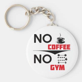 coffee gym basic round button key ring