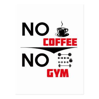 coffee gym postcard