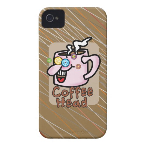 Coffee Head BlackBerry Barely There Case Case-Mate Blackberry Case