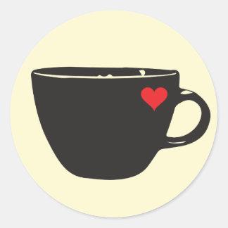 Coffee Heart Sticker