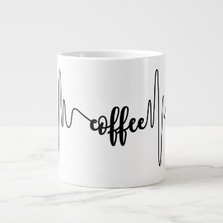Coffee heartbeat mug