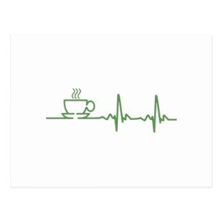 Coffee Heartbeat Postcard