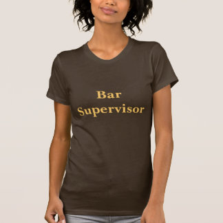 Coffee House Bar Supervisor T Shirt.