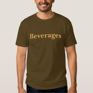 Coffee House Beverages T Shirt. Brown and Mocha T Shirt