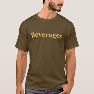 Coffee House Beverages T Shirt. Brown and Mocha T-Shirt