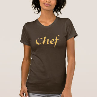 Coffee House Chef T Shirt. Brown and Mocha