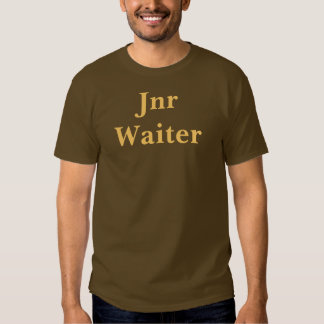 Coffee House Jnr Waiter T Shirt. Brown and Mocha Shirts