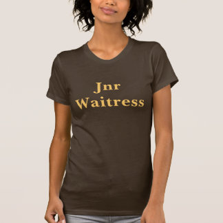 Coffee House Jnr Waitress T Shirt. Brown and mocha
