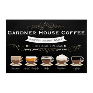 Coffee House Kitchen Wall Art - Personalised