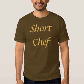 Coffee House Short Chef T Shirt. Brown and Mocha T-shirts