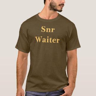 Coffee House Snr Waiter T Shirt. Brown and Mocha T-Shirt