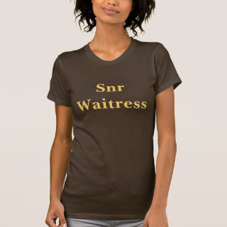 Coffee House Snr Waitress T Shirt. Brown and Mocha