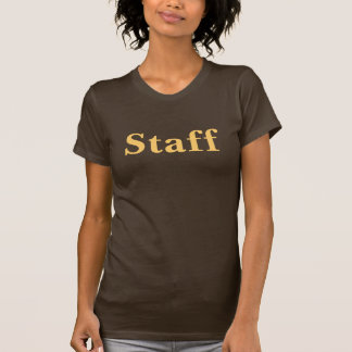Coffee House Staff T Shirt. Brown and Mocha