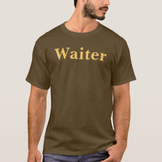 Coffee House Waiter T Shirt. Brown and Mocha T-Shirt
