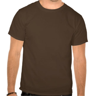 Coffee House Waiter T Shirt. Brown and Mocha
