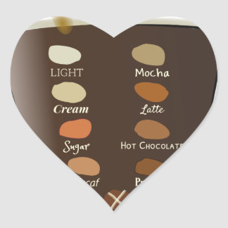 Coffee—How Do You Like It Heart Sticker