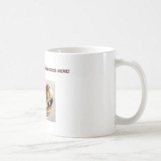 coffee ice cream, CHRIS' COFFEE ICE CREAM GOES ... Basic White Mug