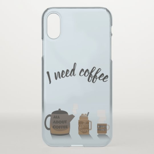 Coffee Illustration by Syahikmah iPhone X Case