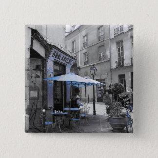 Coffee in Paris 15 Cm Square Badge