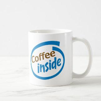 Coffee Inside Basic White Mug