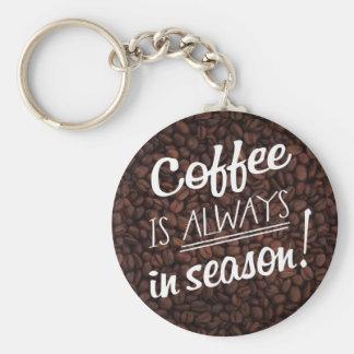 Coffee IS ALWAYS in Season! Key Ring