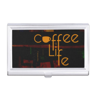 Coffee is Life Business Card Holder